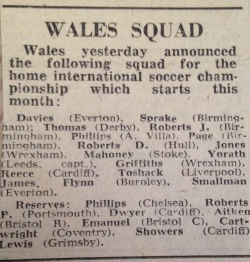 Wales squad Austria 1975
